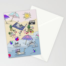 summer cats Stationery Cards