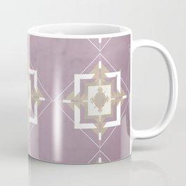 Musk Mauve and Taupe Mosaic Pattern Coffee Mug