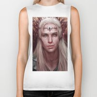 thranduil Biker Tanks featuring Thranduil Portrait by Jay Lockwood Carpenter