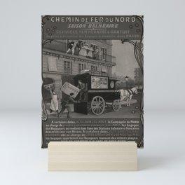 locandina NORD Saison Balneaire voyage poster Mini Art Print