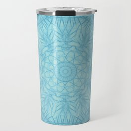 Abstract blue thistle mandala Travel Mug