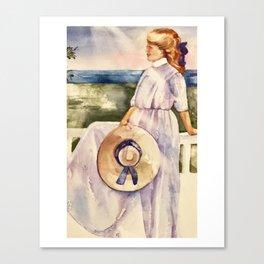girl on porch Canvas Print