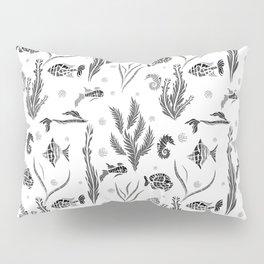 Black and white pattern. Fish . Pillow Sham
