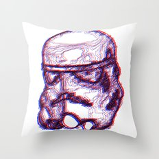 Stormtrooper Helmut 3D Throw Pillow