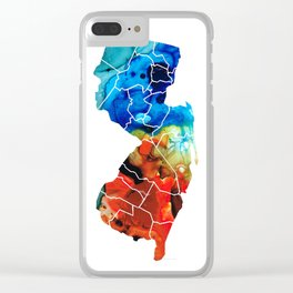 New Jersey - State Map By Sharon Cummings Clear iPhone Case