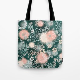 Lacy Flowers Seamless Repeating Pattern Tote Bag