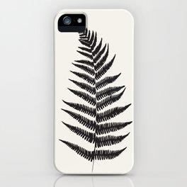 Minimal Fern Leaf iPhone Case