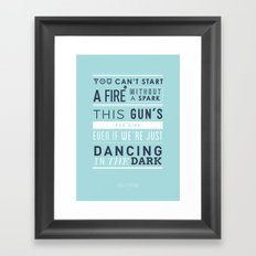 Lyrical Type - Dancing In The Dark Framed Art Print