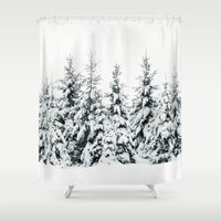 snow Shower Curtains featuring Snow Porn by Tordis Kayma