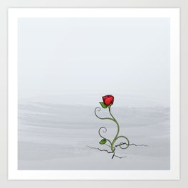 The Rose that Grew from Concrete Art Print