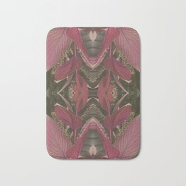 Red Shiso Warm Tones Pattern Bath Mat