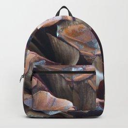 Macro of pinecone Backpack