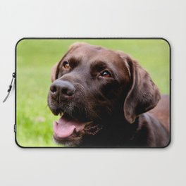 Chocolate Lab in Summertime Laptop Sleeve