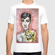 Audrey Hepburn 2 White Mens Fitted Tee MEDIUM