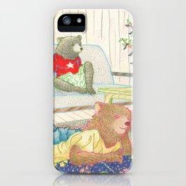 Everyday Animals- Little Bears lounge around iPhone Case