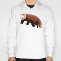 red panda Hoodies featuring Red Panda by Ben Geiger