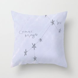 Canis Major - Sirius Constellation Throw Pillow
