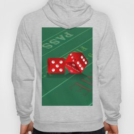 Craps Table & Red Las Vegas Dice Hoody