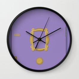 Purple Door - Friends Apartment Wall Clock