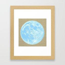 Moon Portrait 4, Blue Moon Framed Art Print