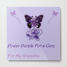 Power Purple For a Cure - For My Grandma Fantasy Metal Print