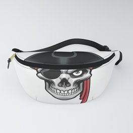 Pirate Skull Head With Hat Eye Patch Fanny Pack