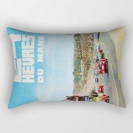 1965 Le Mans poster, Race poster, car poster, garage poster Rectangular Pillow