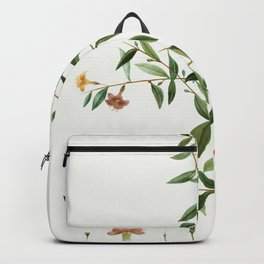 Sunflower petals on a table Backpack
