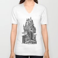 madrid V-neck T-shirts featuring MADRID 360º by DOURONE