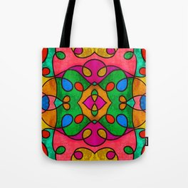 Abstract Doodle Pattern Tote Bag