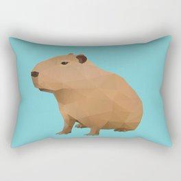 Capybara Polygon Art Rectangular Pillow