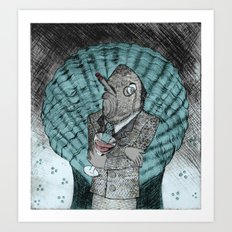 Smells like fish Art Print