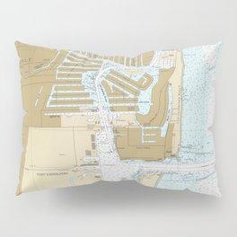 Map of Fort Lauderdale FL (1991) Pillow Sham