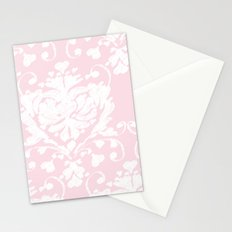giving hearts giving hope: pink damask Stationery Cards