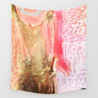 dress Wall Tapestries featuring The Dress by Darla Designs