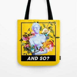 Vaporwave Venus with Flowers Tote Bag