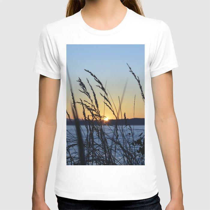 Sunset Sea Grass T-shirt