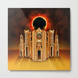 Anor Londo Eclipse Metal Print