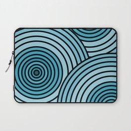 Sea-Blue Circle Pattern Laptop Sleeve