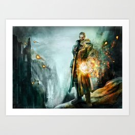 Warrior of the day Art Print