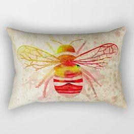 Watercolor Bumblebee Rectangular Pillow