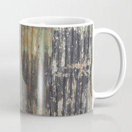 corrugated rusty metal fence paint texture Coffee Mug