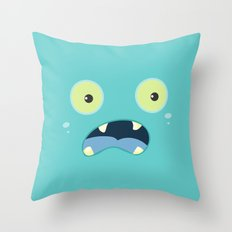 Monster Face Throw Pillow