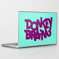 donkey Laptop & iPad Skins featuring Donkey Brain by Josh LaFayette