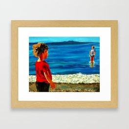 Sea Children of the Sea  - Round the margin of the world  (Henry Lawson) Framed Art Print