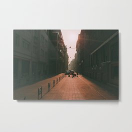 Sunset and Pavement Metal Print
