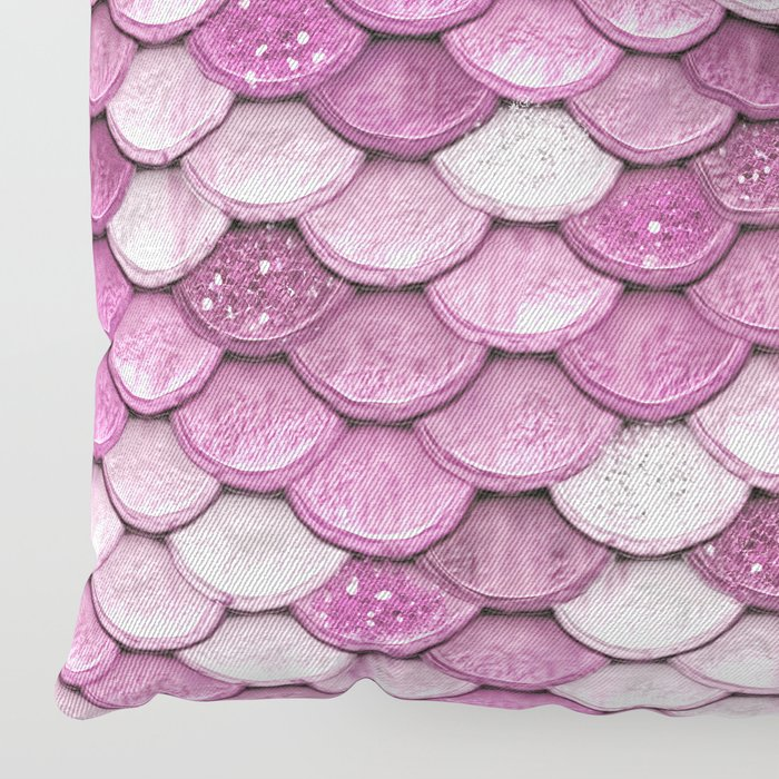 Light Pink Floor Pillows : Light Pink Glitter Mermaid Sparkling Scales - Mermaidscales Floor Pillow by betterhome Society6