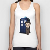 dr who Tank Tops featuring Kokeshi Dr. Who by Pendientera