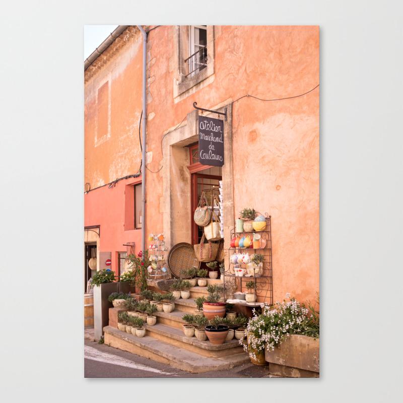 Couleurs Facades En Provence france provence, roussillon canvas print