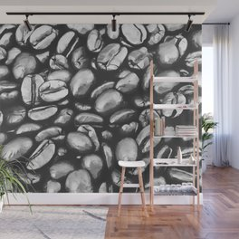 roasted coffee beans texture acrbw Wall Mural